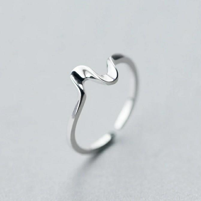 Clean Waves Jewellery Silver Wave Ring