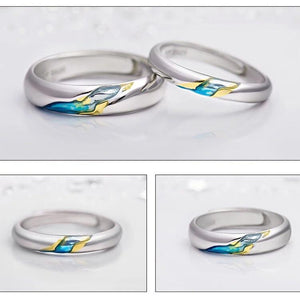Clean Waves Jewellery Sparkling Stream Sterling Silver Rings