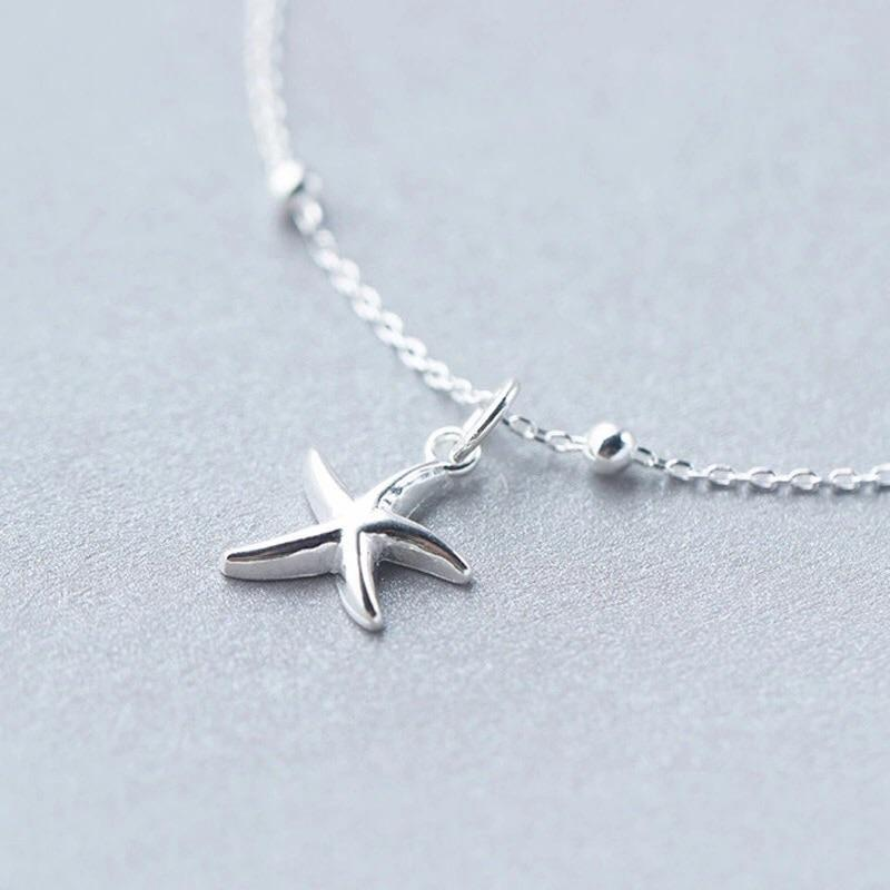 Clean Waves Jewellery Sweet Silver Starfish Bracelet/Anklet