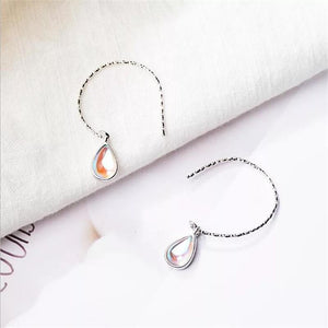 Clean Waves Jewellery Water Drop Sterling Silver Hook Earrings