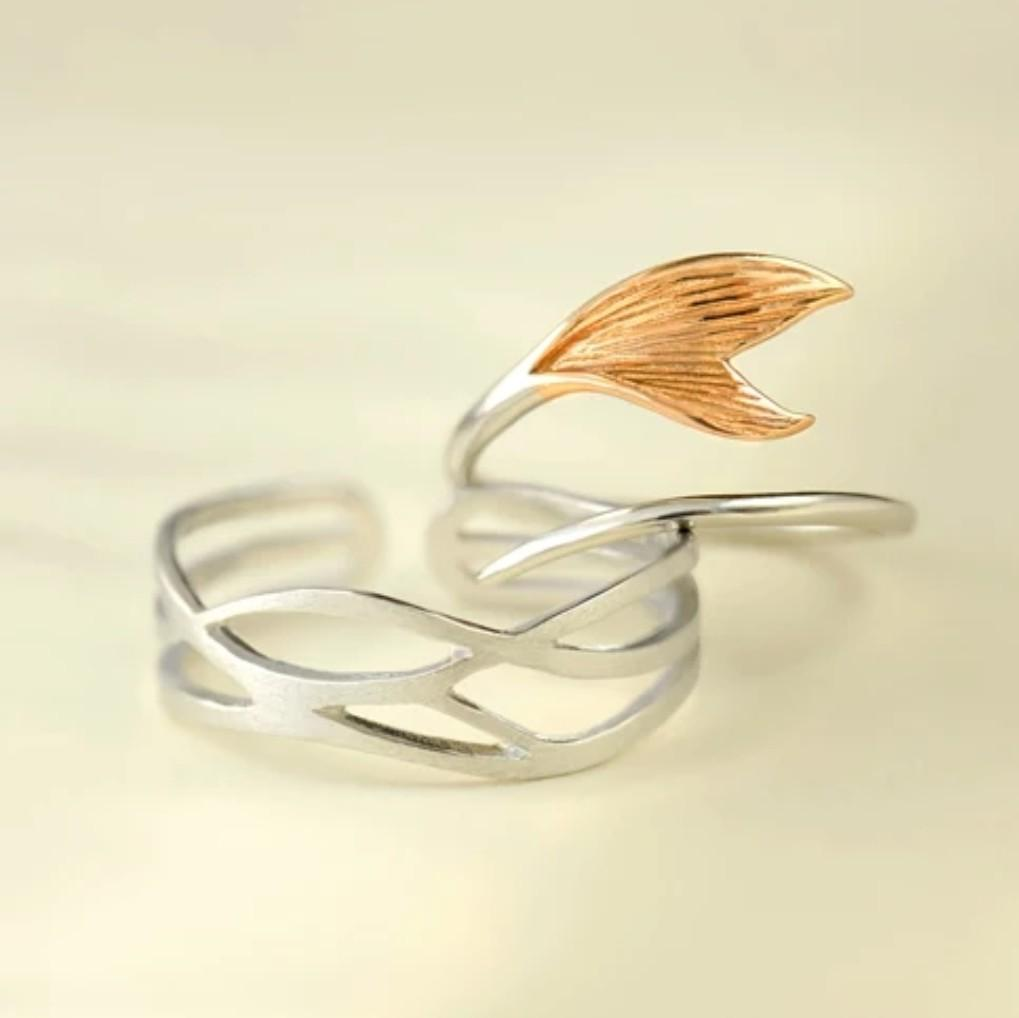 Clean Waves Jewellery Whispering Waves Sterling Silver Ring Set