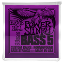 Ernie Ball Power Slinky 5 String Electric Bass Guitar Strings 50-135