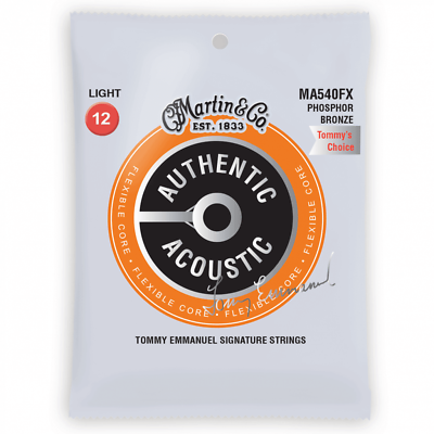 Martin Authentic Acoustic MA540FX Tommy Emmanuel Signature 1254 Acoustic Strings
