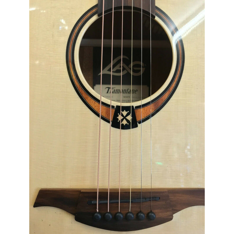 LAG T88ACE Auditorium Cutaway Electro-Acoustic Guitar. On Board Chromatic Tuner