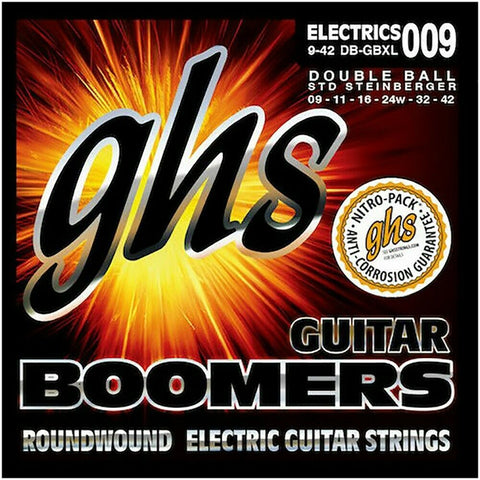 GHS Boomers DB-GBXL Nickel Plated Steel Double Ball End Guitar Strings 9-42