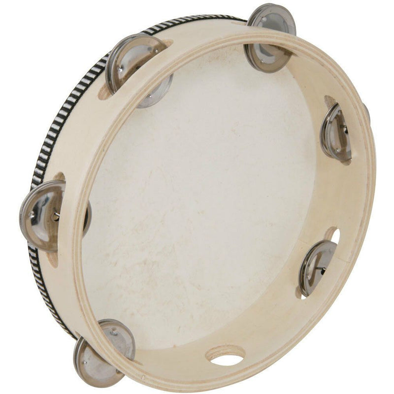 Chord 8 inch /220mm wooden ring tambourine with a hide head.