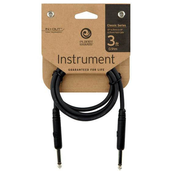 D'Addario PW CGTP 03 3' Straight Classic Series Patch Cable