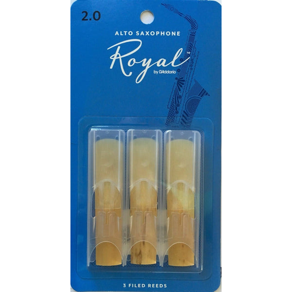 Royal by D'addario 2.0 Strength Reeds for Alto Sax (Pack of 3) RJB0320