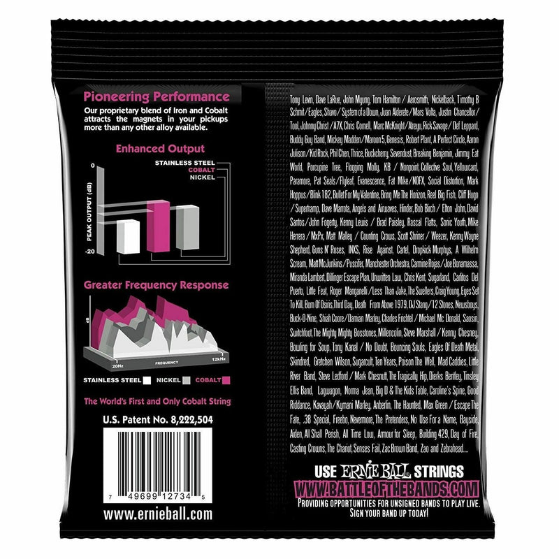 Ernie Ball 2734 Super Slinky Cobalt Bass Guitar Strings 45-100