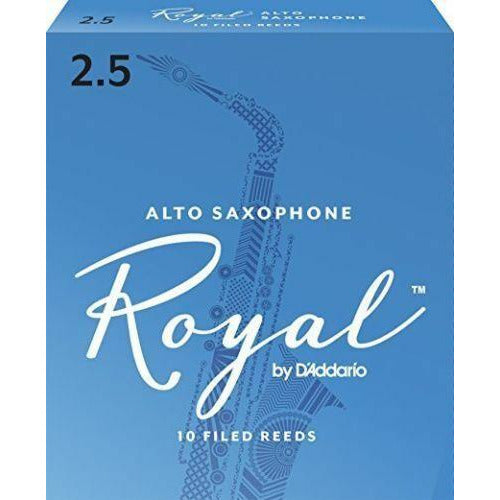 Royal by D'addario 2.5 Strength Reeds for Alto Sax Pack of 10 RJB1025