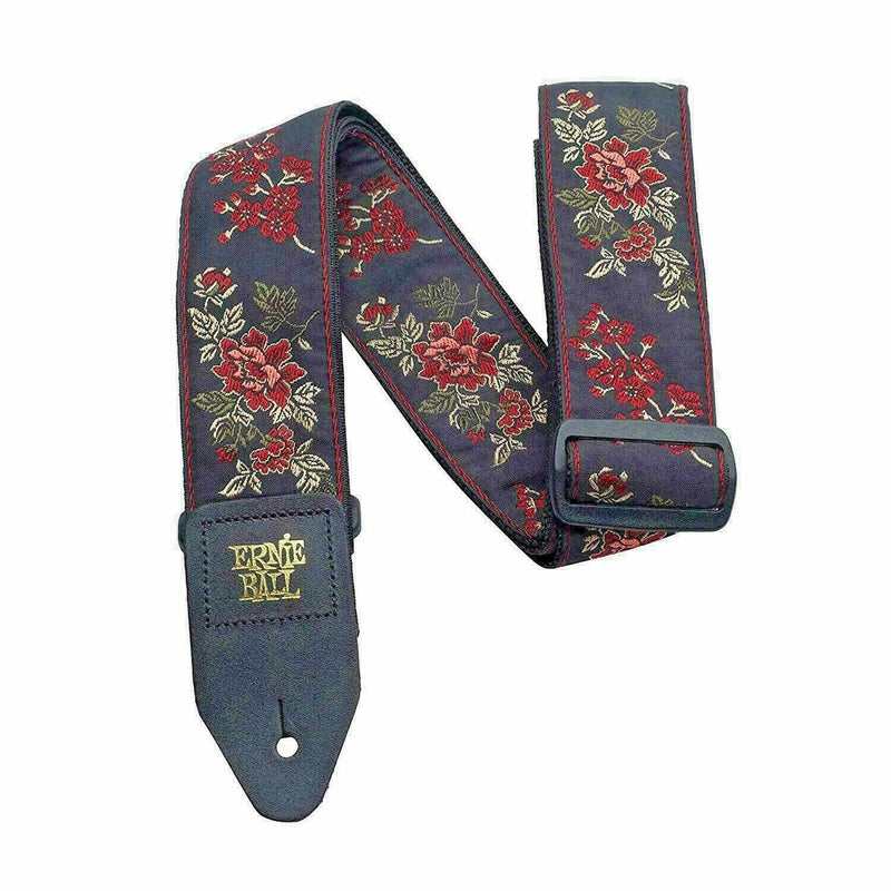 Ernie Ball 'Red Rose' Jacquard Guitar Strap P/N P04142