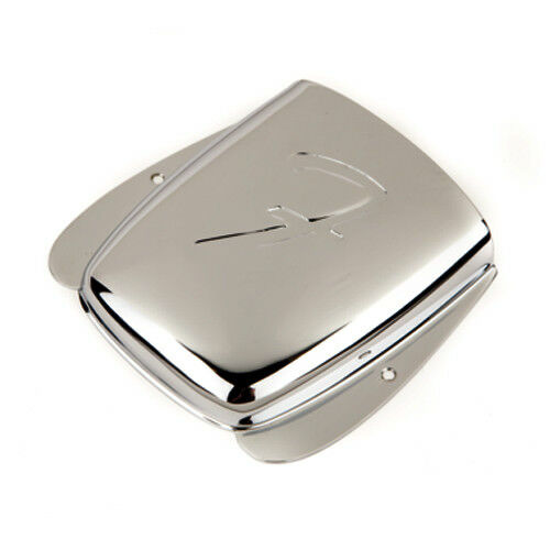 "Genuine Fender Jazz Bass Bridge ""F"" Cover Plate - CHROME - P/N:-0010678000"