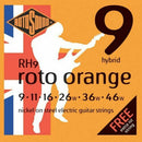 2 Sets Of  Rotosound RH9 Roto Orange Nickel Electric Guitar Strings 9-46 Hybrid