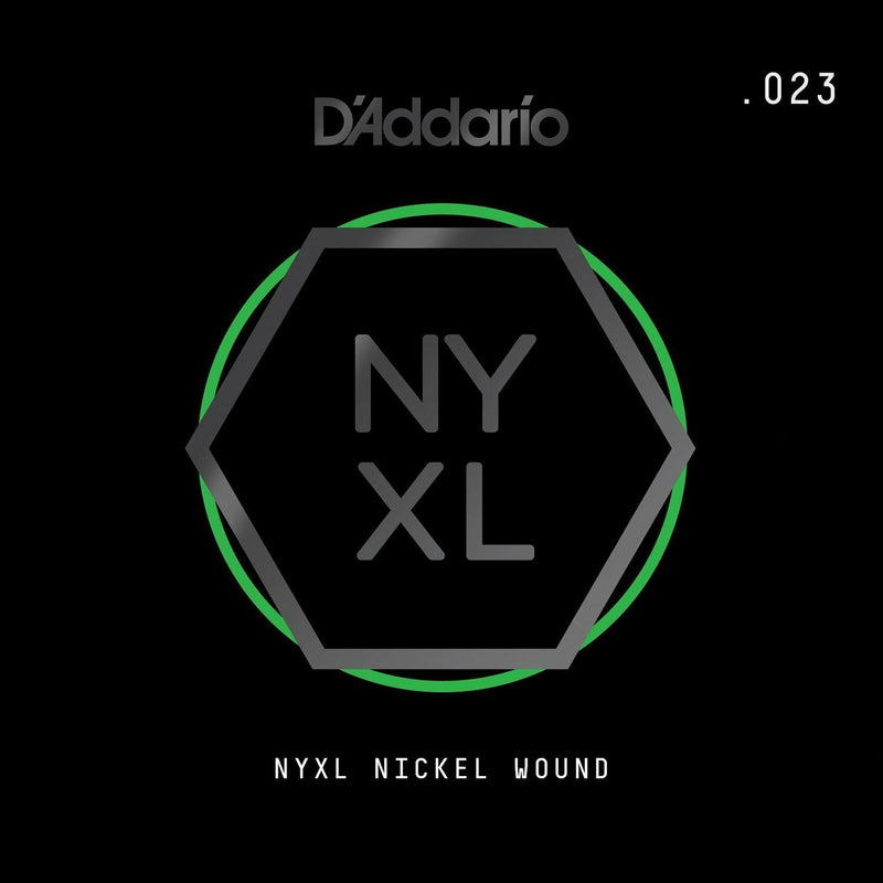 D'Addario NYNW023 NYXL Nickel Wound Electric Guitar Single String, X 2 Strings