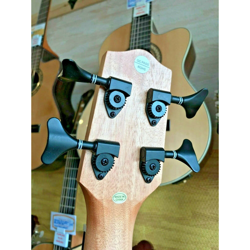 Freshman Bass Ukulele, Electro Acoustic. Ash Body With Onboard Tuner & Pod Case