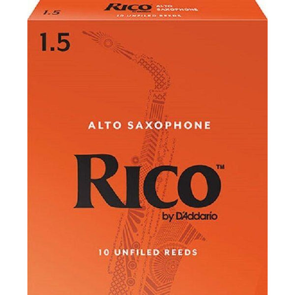 Rico by D'addario Alto Saxophone Reeds Strength 1.5 (Pack Of 10) - RJA1015