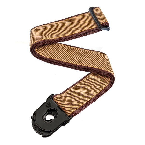 D'Addario Planet Lock Guitar Strap - Tweed. Awesome Quality. P/No - 50PLB06