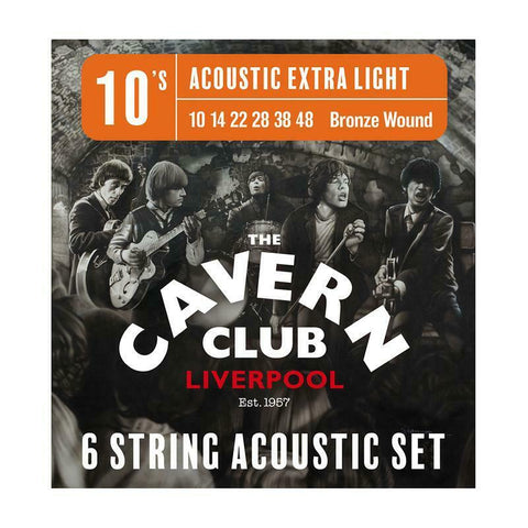The Cavern Club 10-48 Acoustic Guitar String Set. Officially Licensed P/N CVA10