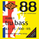Rotosound RS88LD Tru Bass Black Nylon Bass Guitar Strings 65-115 long Scale