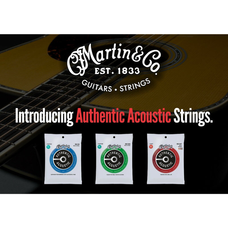 Martin MA540 Authentic Acoustic Light Guitar Strings 12-16-25-32-42-54