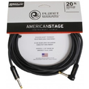 D'Addario PW-AMSGRA-20  American Stage Instrument/Guitar R/A Cable 20'