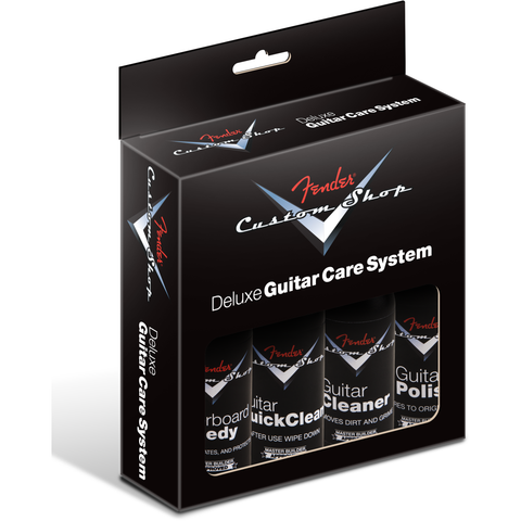Fender  Custom Shop Deluxe Guitar Care System, 4 Pack, Black P/N 0990539000