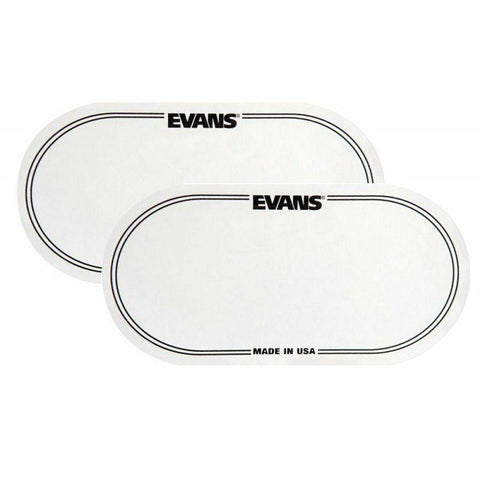 Evans EQ Double Pedal Patch Clear Plastic EQPC2. 2 Patches Per Package !!