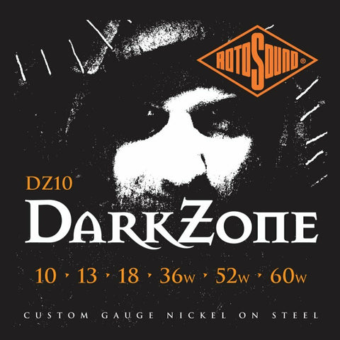 Rotosound DZ10 Dark Zone Limited Edition Nickel Wound Electric Strings 10-60