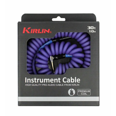 Kirlin Premium Coil 30ft Guitar Cable Purple IMK182COILP