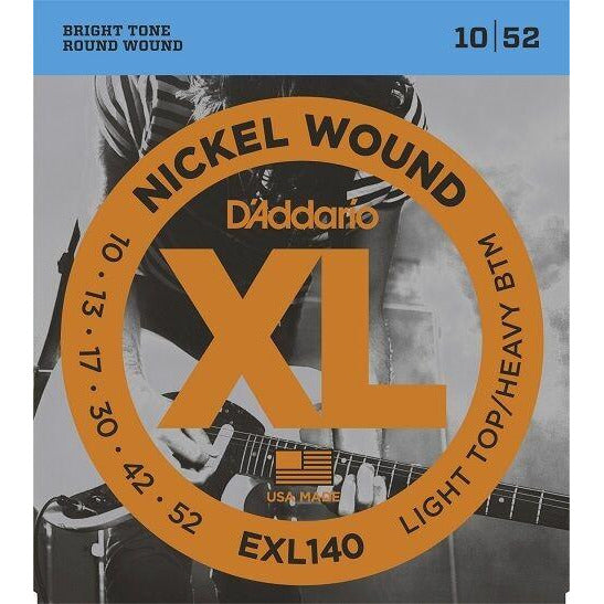3 x D'Addario EXL140. LIGHT TOP/HEAVY BOTTOM 10/13/17/30/42/52. 3 Separate Packs