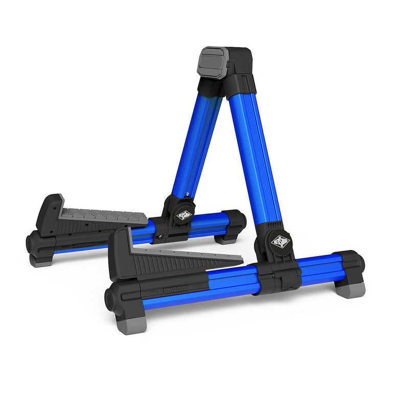 2 X Rotosound RGS-200 Electric & Acoustic Guitar/Bass Stand, Blue
