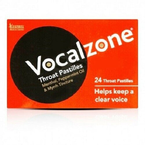 Vocalzone Pastilles Original Flavour Pack of 24. Helps Keep A Clear Voice