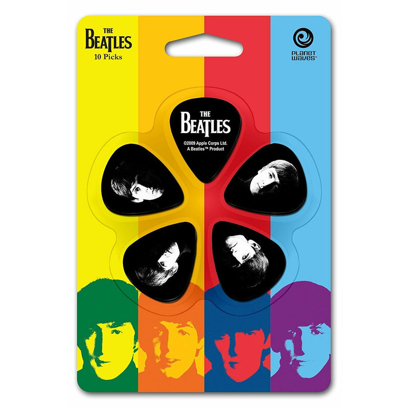 D'Addario Beatles Meet The Beatles Picks Medium Gauge Pack of 10