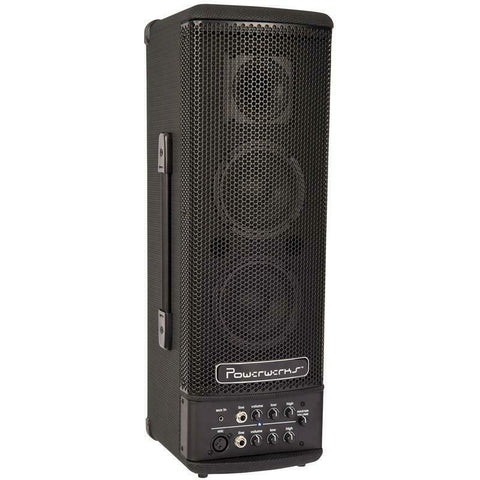 Powerwerks 40wTower PA Battery Powered Speaker with Bluetooth
