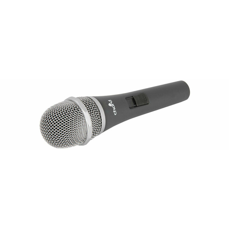 Chord Dynamic Vocal Microphone With ABS flight Case & 5 Metre XLR -Jack Lead