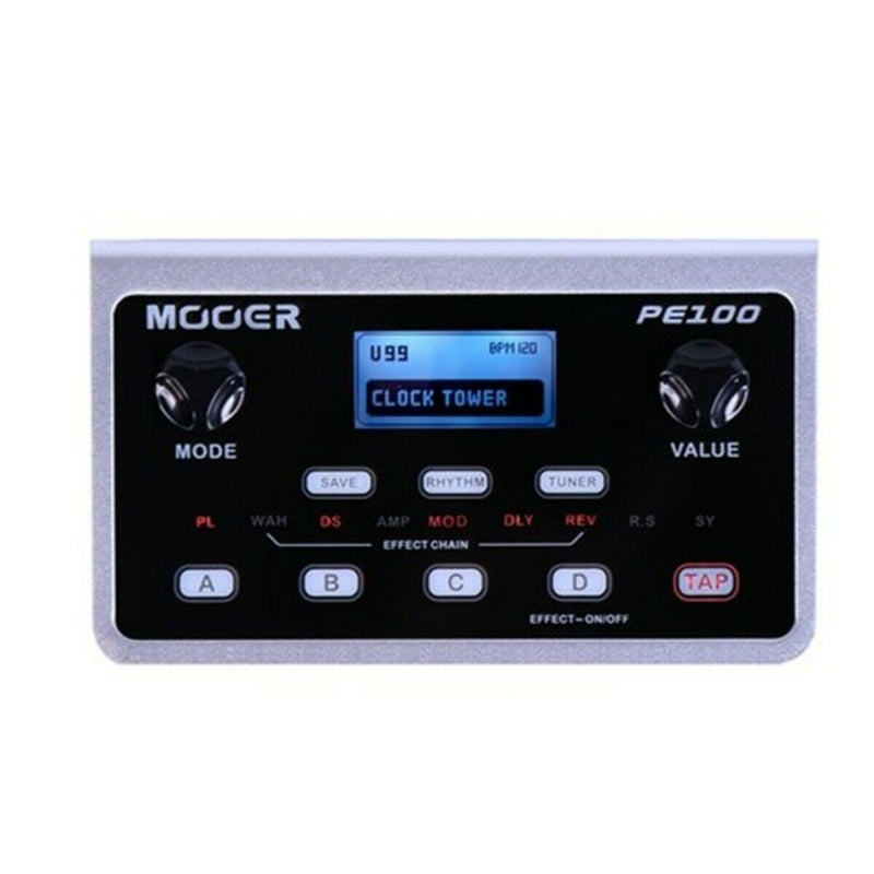 Mooer PE100 Portable Multi Effects Processor, Plus Drum Machine,Mains or Battery
