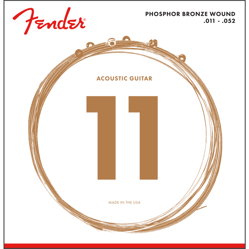 Fender 60CL Phosphor Bronze Acoustic Strings Ball End .011-.052 P/N 0730060405