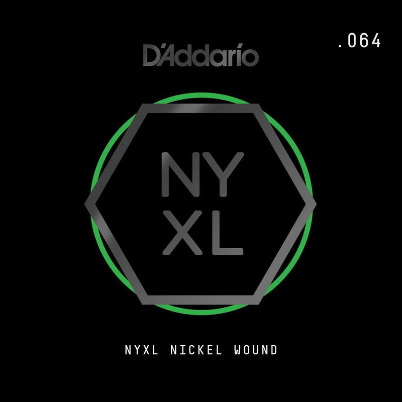 D'Addario NYNW064 NYXL Nickel Wound Electric Guitar Single String, X 2 Strings