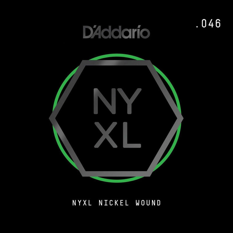 D'Addario NYNW046 NYXL Nickel Wound Electric Guitar Single String, X 2 Strings