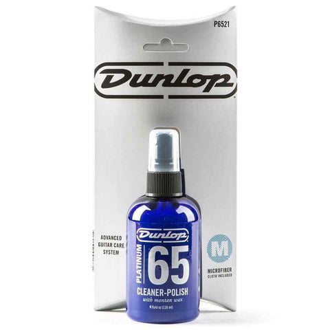 Dunlop Platinum 65 Cleaner Polish with Microfibre Cloth.p/n JDP6521
