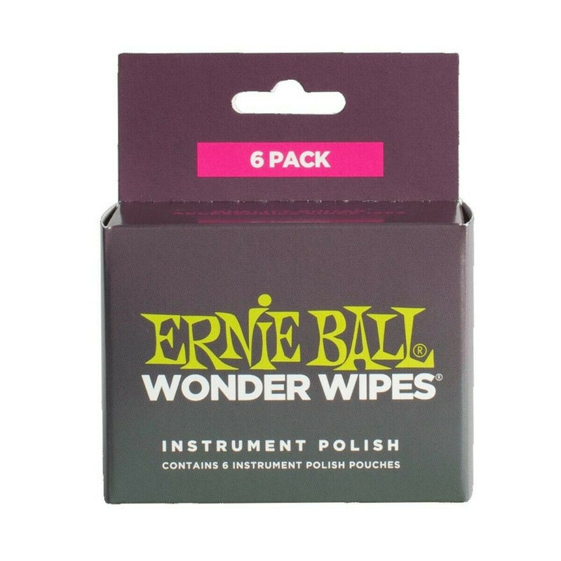 Ernie Ball 4278 Wonder Wipes Body Polish (6 Pack) Cleans, Shines And Protects.