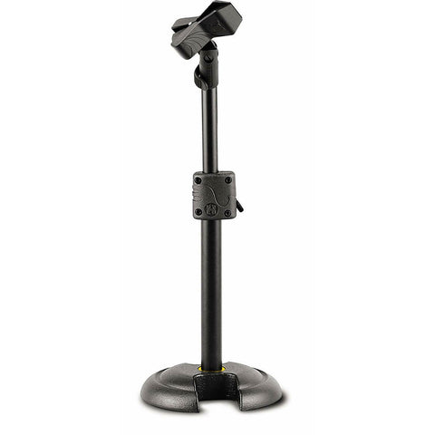 Hercules MS100B Microphone Stand,Compact design.Quik-N-EZ Height Adjustment