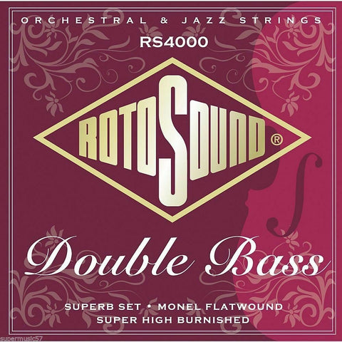 Rotosound RS4000 Silked Pro Double Bass Monel Flatwound Strings
