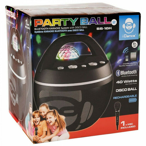 iDance Party Ball 2 Bluetooth Karaoke System BB-10K