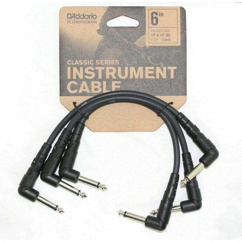 D'Addario  PW-CGTP-305 Classic Series Guitar Patch Cables 3-Pack