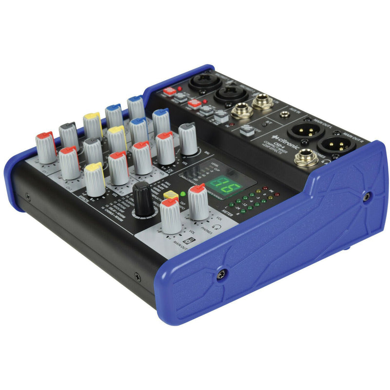 Citronic CSD-4 Compact Mixers with BT and DSP Effects