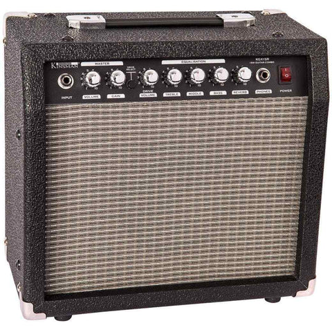 Kinsman 15W Electric Guitar Ampifier with Reverb Perfect for Home use