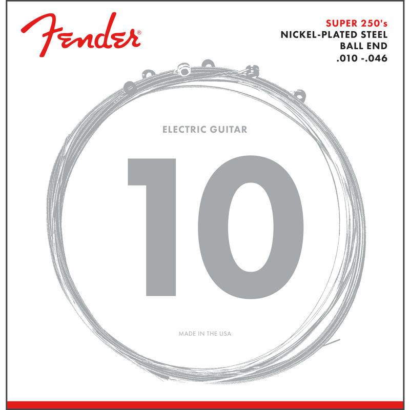 Fender Super 250R NPS Ball End Strings .010-.046 Gauges P/N 0730250406