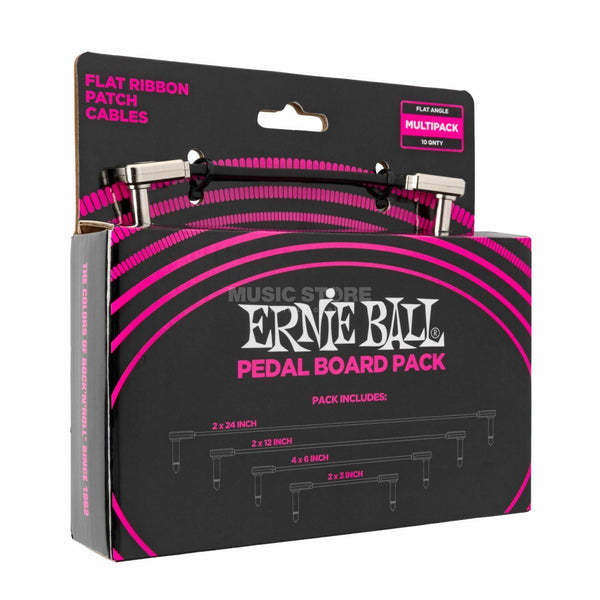 Ernie Ball PO6224 Flat Patch Cable Multi-Pack (10-Pack)