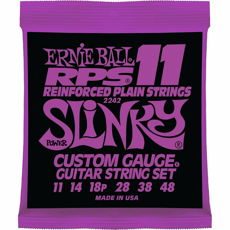 Ernie Ball RPS (2242)Gauge 11-48 Power Slinky Nickel Wound Reinforced String Set